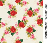 seamless floral pattern red and ... | Shutterstock .eps vector #426884200