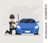 professional car thief... | Shutterstock .eps vector #426885814