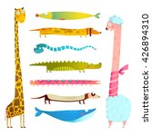 fun cartoon long animals... | Shutterstock .eps vector #426894310