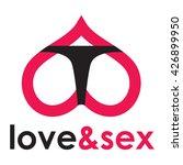 sex shop logo   butt   Shutterstock .eps vector #426899950