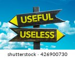 useful   useless crossroad with ... | Shutterstock . vector #426900730