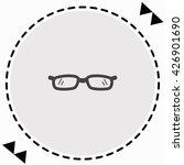glasses icon flat design....   Shutterstock .eps vector #426901690