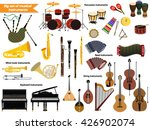big set of musical instruments | Shutterstock .eps vector #426902074