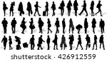 set of 39 vector's silhouettes... | Shutterstock .eps vector #426912559