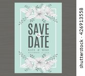 save the date wedding... | Shutterstock .eps vector #426913558