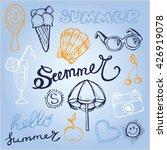 hand drawn summer vector set....   Shutterstock .eps vector #426919078