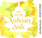 autumn sale   handwritten... | Shutterstock .eps vector #426921583