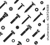 nut and bolt head icons... | Shutterstock .eps vector #426924088