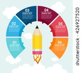 pencil rocket info graphic in... | Shutterstock .eps vector #426927520