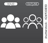 people line icon  outline and... | Shutterstock .eps vector #426933850