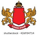 vector heraldic elements... | Shutterstock .eps vector #426934714