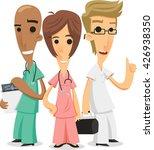 doctors and nurses cartoon... | Shutterstock .eps vector #426938350