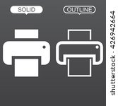 printer line icon  outline and...