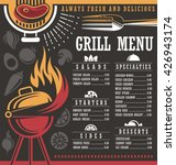 grill menu design template. | Shutterstock .eps vector #426943174
