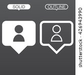 person pin line icon  outline...