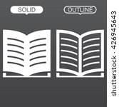 book line icon  outline and...