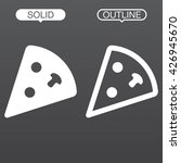 pizza line icon  outline and...