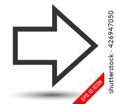 right arrow icon. logo of the...