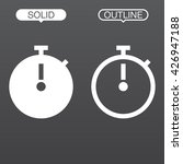 stopwatch line icon  outline...
