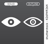eye line icon  outline and...