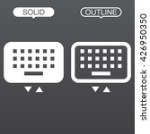 keyboard line icon  outline and ...