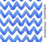 zig zag watercolor seamless... | Shutterstock . vector #426955894