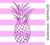 vector hand drawn pineapple... | Shutterstock .eps vector #426956158