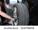car mechanic hands replace... | Shutterstock . vector #426958858