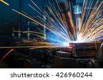 the welding robots represent... | Shutterstock . vector #426960244