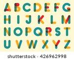 rounded font. vector alphabet...   Shutterstock .eps vector #426962998