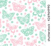 butterfly seamless background.... | Shutterstock .eps vector #426964990