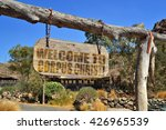 """old wood signboard with text """"...   Shutterstock . vector #426965539"""
