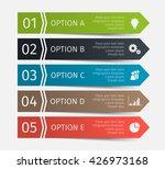 modern infographic lines set.... | Shutterstock .eps vector #426973168