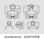 Stock vector virtual reality glasses icons 426974908