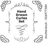 hand drawn curls set for your... | Shutterstock .eps vector #426977584