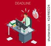 project deadline. deadline... | Shutterstock .eps vector #426980224