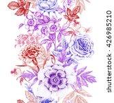 floral seamless pattern. fringe.... | Shutterstock . vector #426985210