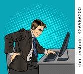 businessman suffering from... | Shutterstock .eps vector #426986200
