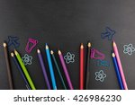 color pencils and different... | Shutterstock . vector #426986230