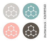 chemical compound. symbol... | Shutterstock .eps vector #426989560