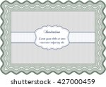retro invitation. border  frame.... | Shutterstock .eps vector #427000459