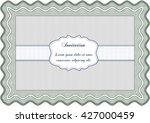 retro invitation. border  frame.... | Shutterstock .eps vector #427000459