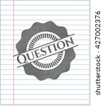 question emblem with pencil... | Shutterstock .eps vector #427002376