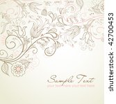 floral greeting card | Shutterstock .eps vector #42700453