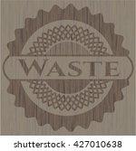 waste retro wooden emblem | Shutterstock .eps vector #427010638