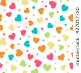 seamless pattern with hearts... | Shutterstock .eps vector #427017730