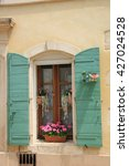 french style window with... | Shutterstock . vector #427024528