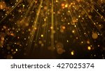 lots of gold glitter particles... | Shutterstock . vector #427025374