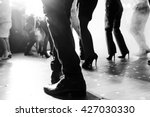 legs of dancing people at the... | Shutterstock . vector #427030330