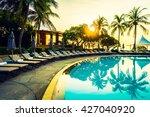 beautiful luxury umbrella and... | Shutterstock . vector #427040920